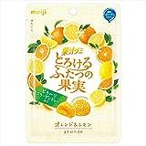 明治 果汁グミとろけるふたつの果実オレンジ&レモン 52g×10袋