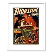 Theatre Magic Illusion Thurston Ad Picture Framed Wall Art Print 劇場魔法画像壁