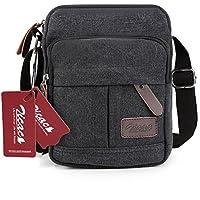 Zicac Men's Small Canvas Shoulder Bag Briefcase Messenger Bags Satchel