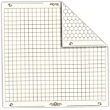 26 x 26 Role Playing Reversible Vinyl Gaming Mat: Melee Mat with 1h Squares and Hexes by Wiz Dice