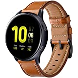 Kartice Compatible with Galaxy Watch Active2 44mm Band Active 40mm Bands Gear Sport Band 20mm Leather Strap for Galaxy Watch Active 2