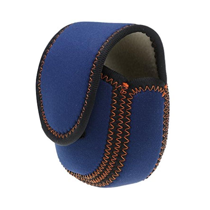 リラックス魅力記念日Fenteer ナイロン製 釣り リールカバー リールガード ケース フライリール用 青