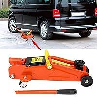 2トン容量の車のリフト - 油圧ジャッキ - 車のリフト、ベビーカージャッキ修理ツール - 車のジャッキ - オレンジ