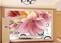Yosot カスタマイズされた写真の3D壁紙花の壁の壁の装飾の絵の壁紙3Dの花-300cmx210cm