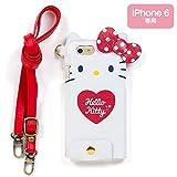 ハローキティ ネックストラップ付きiPhone 6カバー