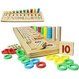 Richair 知育 玩具 数字の基礎を覚える 木のおもちゃ パズル ブロック 幼児 子供 教育教材 脳活性化