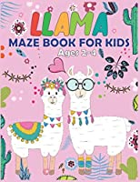 Llama MAZE Book For Kids Ages 2-4: Maze Activity Book for Kids | Beautiful Llama Maze Book for Smart Kids