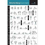 ストレッチエクササイズポスター ラミネート - ワークアウトの筋肉のストレッチ方法を表示 - ホームジムフィットネスガイド 20