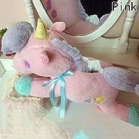 Baringユニコーンぬいぐるみぬいぐるみソフトおもちゃかわいい人形、ティッシュポンプ、ギフトGood Gift For Children 20 CM ピンク YWLO0488