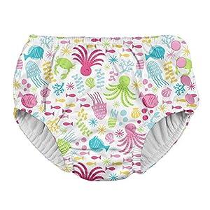 アイプレイ iplay オムツ機能付 水遊び用パンツ スイムダイパー スイミングパンツ 女の子 3T:3歳/13.5-17kg White Sea Pals