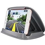 車のための携帯電話ホルダー、iPhone用車両のGPSマウントSamsung LG Nexus Motorolaおよびその他の3-6.8インチユニバーサルスマートフォンとGPSナビゲーションシステム - グレー - Best Reviews Guide