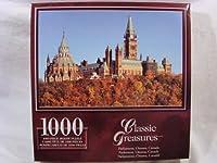 クラシックTreasures 1000ピースジグソーパズル: Parliament、オタワ、カナダ