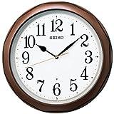 セイコー クロック 掛け時計 電波 アナログ 茶 メタリック KX812B SEIKO