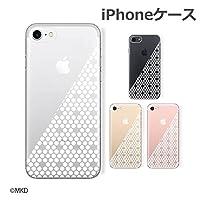 Apple iPhone5 / iPhone5s 兼用 スマホ アイフォン ケース カバー 水玉4 ドット ハーフ 白 クリアデザイン アイフォンケース アイフォンカバー