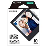 Fujifilm 16576532 Instax Square Black Frame Film 10 Sheet