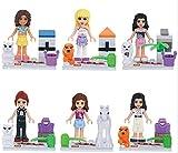 Girl 'sレンガおもちゃStephanie Mia Emma Oliviaアンドリュー・withペットミニフィギュアToyシリーズアクションフィギュアBuilding Blocksセット互換Lego