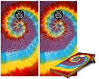 Cornhole Bag Toss Gameボードビニールラップスキンキット–Tie Dye Swirl 108( Fits 24x 48ゲームボード–Gameboards NOT INCLUDED )