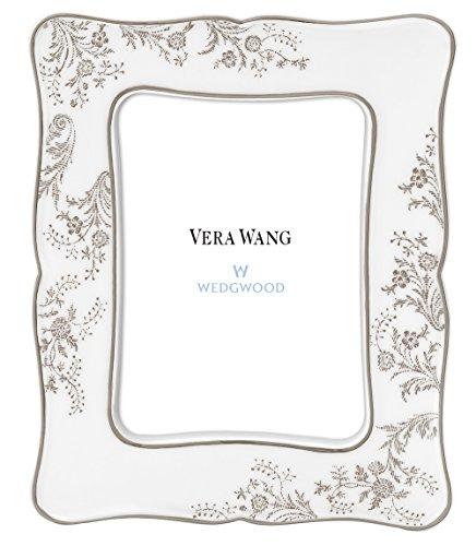 【正規輸入品】 ウェッジウッド ヴェラ・ウォン ヴェラ レース プラチナ フォトフレーム 50127203322