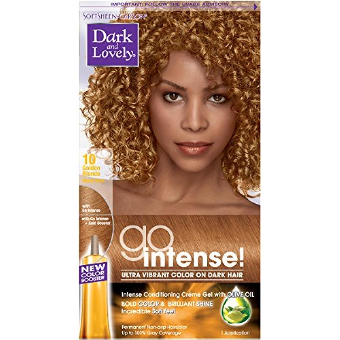 ハード恐れ花SoftSheen-Carson ダーク、暗い髪に美しいゴーインテンス超明るい色、ゴールデン?ブロンド10(梱包は変更になる場合があります) 1つのEA ゴールデンブロンド
