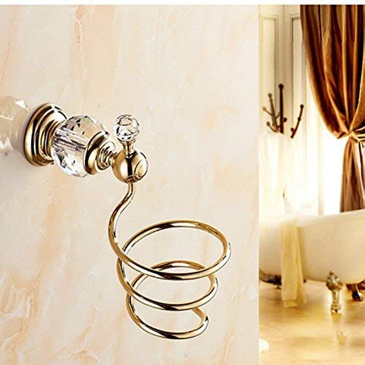 なぞらえる公園まさに壁掛けの贅沢な金終わりの水晶ハンガーの浴室のヘアードライヤーのホールダー ステンレス多機能ラック