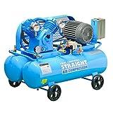 (STRAIGHT/ストレート) エアーコンプレッサー 3相200V 4馬力 39L+39Lサブタンク付 17-7840
