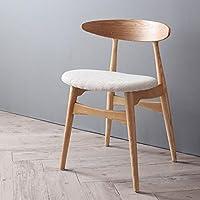 【商品名】天然木 北欧デザイン ダイニングチェア CNL  シンプル ナチュラル ファブリックチェア カフェチェア パーソナルチェア 1P チェア 食卓椅子 北欧スタイル【サイズ】幅52×奥行55×高さ73×座面高46cm MK (アイボリー)
