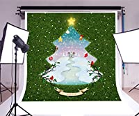 Leyiyi 8x8フィート 写真撮影 背景 メリークリスマス 背景 緑色 クリスマスツリー 冬 ホリデー マジック スター フェアリーテール ジンジャーブレッド スノーカバー ハッピー ニューイヤー キャンディ ケーン 写真 ポートレート ビニール スタジオ 小道具