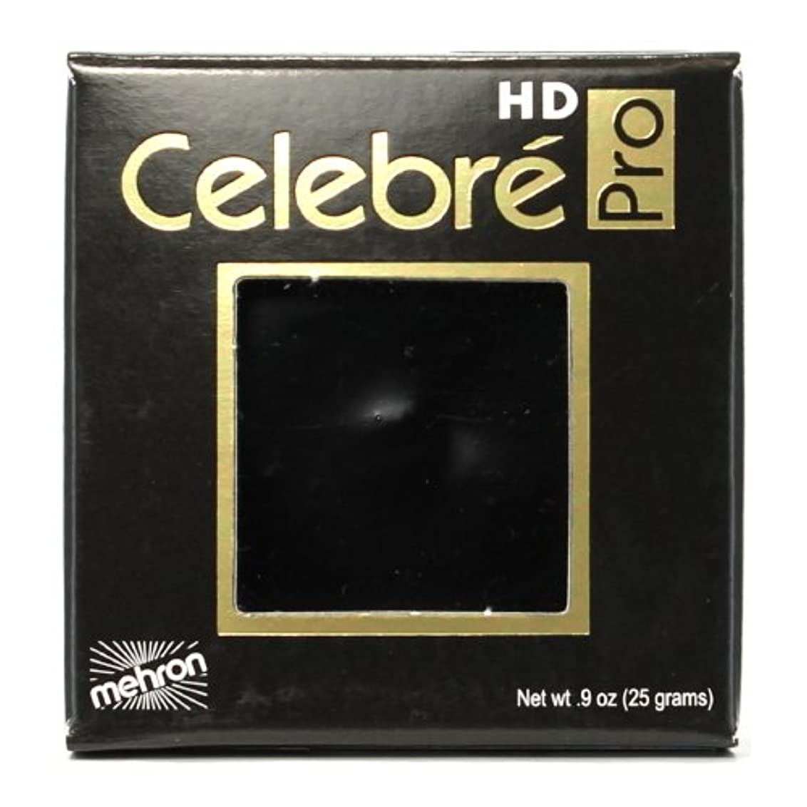 最大矩形不毛の(3 Pack) mehron Celebre Pro HD Make-Up - Black (並行輸入品)