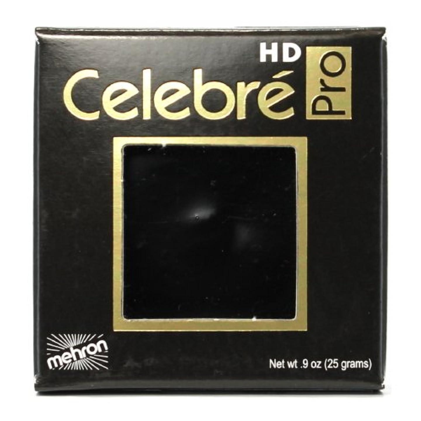 スタウト残り物区別する(3 Pack) mehron Celebre Pro HD Make-Up - Black (並行輸入品)