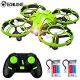 Mini Drones for Kids and Beginners, EACHINE E016H 2.4Ghz 6-Axis RC Nano Quadcopter with Altitude Hold Function for Beginner, 3D Flips,Headless Mode and Extra Batteries Easy to Fly