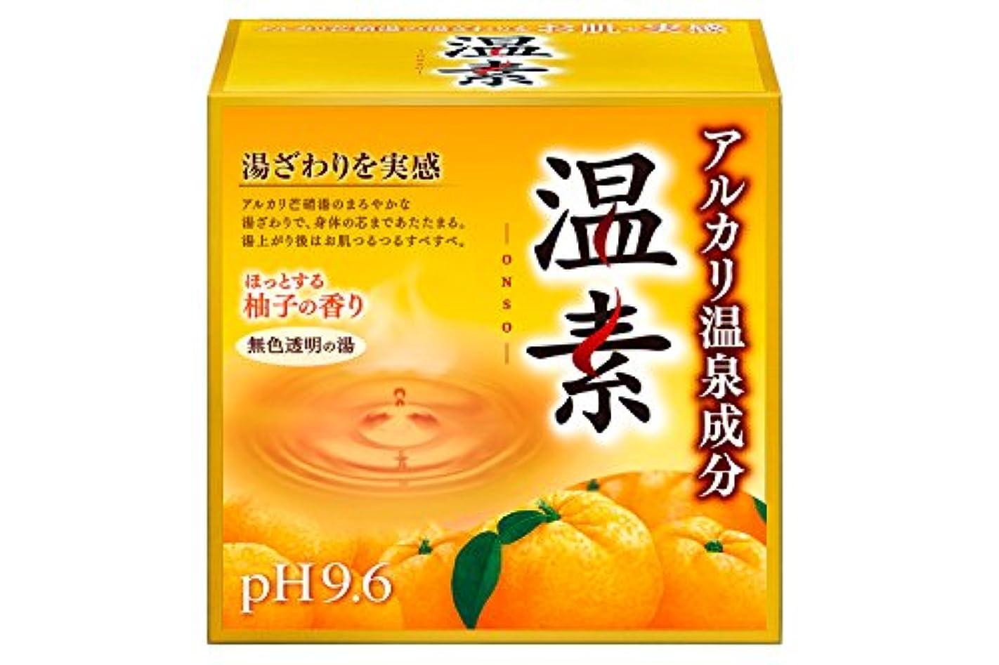 大砲バーチャル認可アース製薬 温素 入浴剤 柚子の香り 15包入 [医薬部外品]