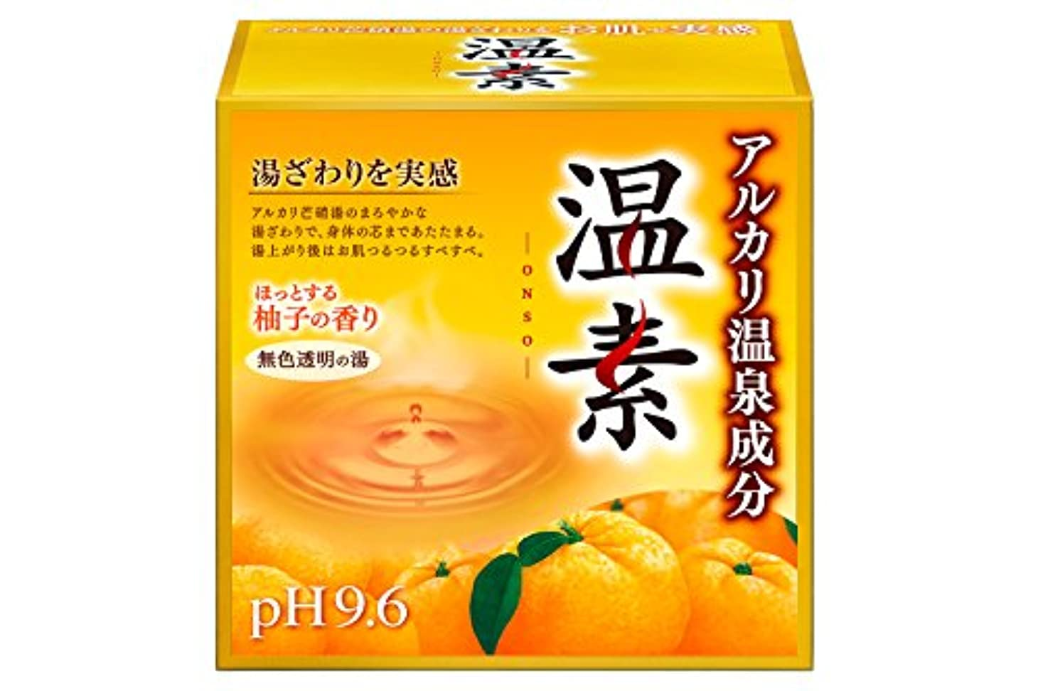 スープ醜い合成アース製薬 温素 入浴剤 柚子の香り 15包入 [医薬部外品]