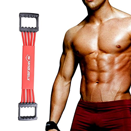 Win.Max(ウインマックス)5連式チューブエキスパンダー  フィットネス トレーニング 筋トレ 皮膚挟み防止用カバー付き