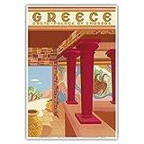 ギリシャ - クレタ島 - Cnossosの宮殿 - ビンテージな世界旅行のポスター によって作成された c.1949 - アートポスター - 33cm x 48cm