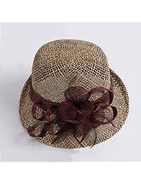 SUNNY 麦わら帽子女性夏小型新鮮なサンハットエレガントなバイザーマニュアル紡績ボウラー