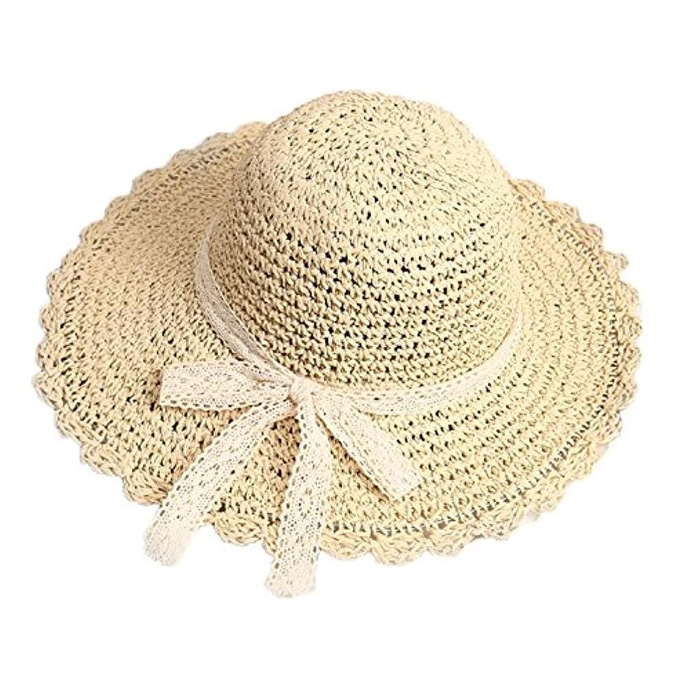 窓教えて里親親子 帽子 麦わら帽子 サンバイザー レディース あご紐付き つば広 ハット 大人用 子供用 帽子 UVカット 夏 リボン 可愛い おしゃれ ビーチ ファッション アウトドア 日よけ帽子 人気 レジャー 旅行