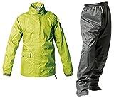 マックレインウェア(MAKKU RAIN WEAR) TOURING(ツーリング) 透湿レインスーツ グリーン/ダークグレー EL PT-7200