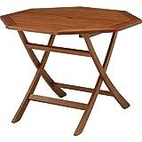 ガーデンオクタゴナルテーブル [4人がけサイズの木製ガーデンテーブル] ノーブランド品
