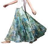 (アッシュランゲル)ASHERANGELレディース 花柄ロングスカート ふんわりマキシスカート 21#