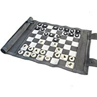 Leatherette Roll-Up Travel Chess Set