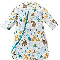 スリーパー 赤ちゃん 冬 綿100% 柔らかく 通気性も抜群 かわいい ベビー 寝冷え防止 厚手 長袖 袖取り外し 可能 (6ヶ月から2歳)
