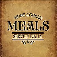 ホーム調理Meals Served Dailyノベルティ正方形アルミニウムメタルサイン