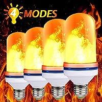 炎の効果のある電球。