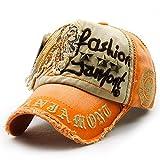 LOLONG 野球 キャップ メンズ 刺繍 帽子 サイズ調整