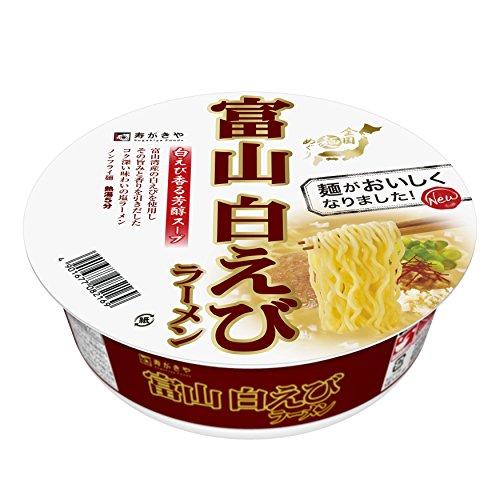 寿がきや 全国麺めぐり 富山白えびラーメン 104g×12個