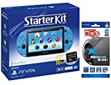 PlayStation Vita Starter Kit アクア・ブルー 【Amazon.co.jp限定】液晶保護フィルム 『気泡ゼロ保護 フィルター』for PlayStation Vita付