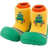 Attipas Baby First Walker Shoes (Medium, Robot Green)