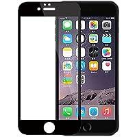 【改良版】【2枚セット】 iPhone 6 Plus 5.5インチ用 黒 9H 0.26mm 2.5D 耐衝撃・耐傷・防汚・防指紋・飛散防止 気泡レス スムースタッチ 全面 保護 強化ガラス フルスクリーン プロテクター For iPhone 6 Plus 5.5 インチ Apple 純正レザー・シリコンケース可 【design office work】オリジナル。マイクロファイバークリーニングクロス付 (【2枚セット】iPhone 6 Plus / 6s Plus 5.5 黒 Black)