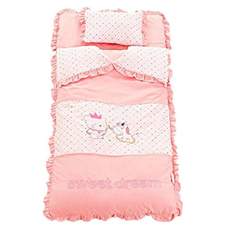 ベビー布団 掛け布団 赤ちゃん 昼寝 布団 新生児 寝袋 柔らかい肌触 りより良い暖かさ 洗える 枕付き 男女兼用 通気性