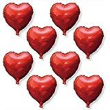 誕生日 飾り付け 風船 飾り バルーン ハート 36cm ハートバルーン ハート型 アルミ 8個 結婚式 バースデー 前撮り (レッド×ピンク)